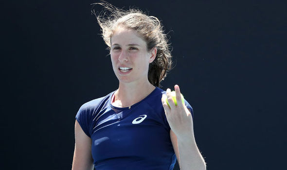 Johanna Konta at the Australian Open