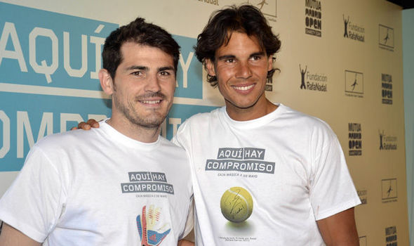 Rafael Nadal and Real Madrid legend Iker Casillas