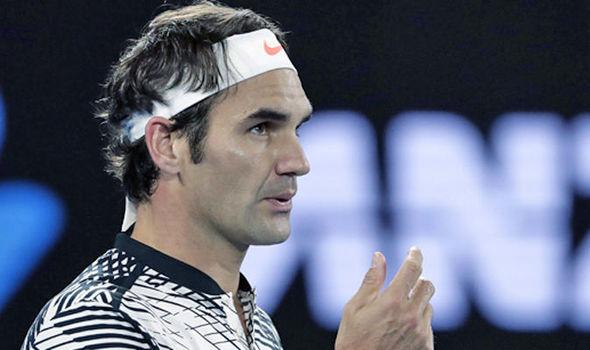 Roger Federer in the Australian Open