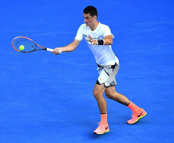 Bernard Tomic at the Australian Open