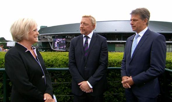 Boris Becker Andrew Castle