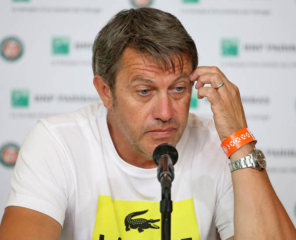 David Goffin's coach Thierry Van Cleemput