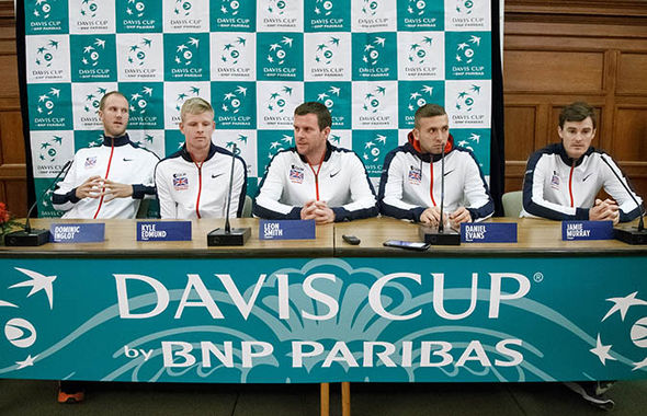 Team Britain in the Davis Cup