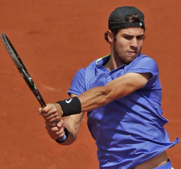 Karen Khachanov at the French Open