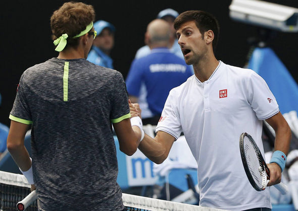 Novak Djokovic and Denis Istomin