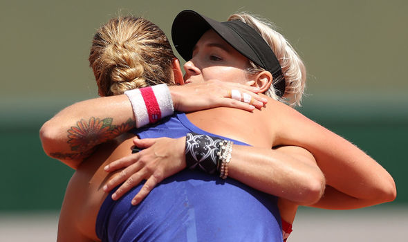 Petra Kvitova and Bethanie Mattek-Sands