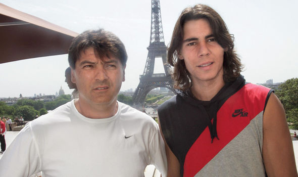 Rafael Nadal tennis player and uncle Toni