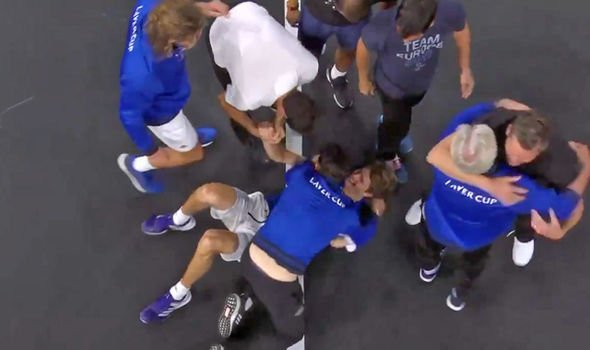Roger Federer and Rafael Nadal go wild in crazy celebrations as Team Europe win Laver Cup