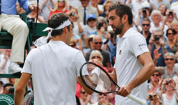 Roger Federer beat Marin Cilic in straight sets to win his eighth title