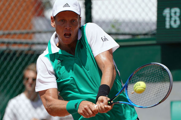Tomas Berdych at the French Open