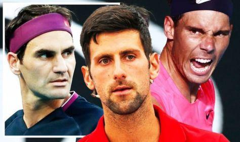 Novak Djokovic aims Rafael Nadal warning as sights set on matching Roger Federer this year