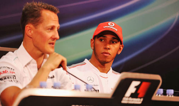Image result for Lewis Hamilton says he does not have the desire to match Michael Schumacher