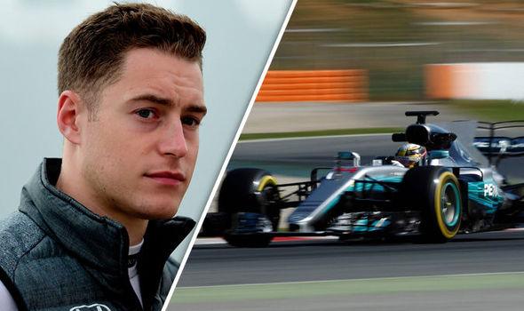 McLaren driver Stoffel Vandoorne and Mercedes F1 driver Lewis Hamilton