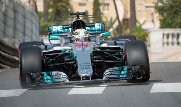 Two-time winner at Monaco Grand Prix Lewis hamilton in action