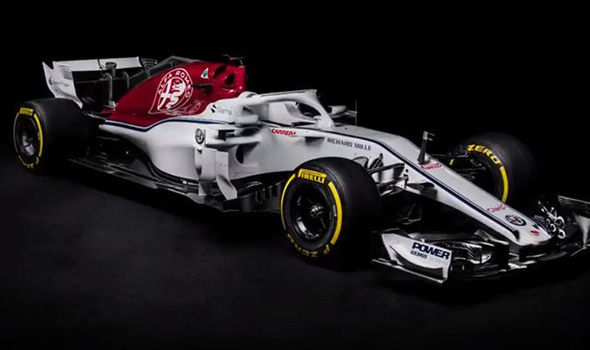 Image result for Sauber launches Alfa Romeo 2018