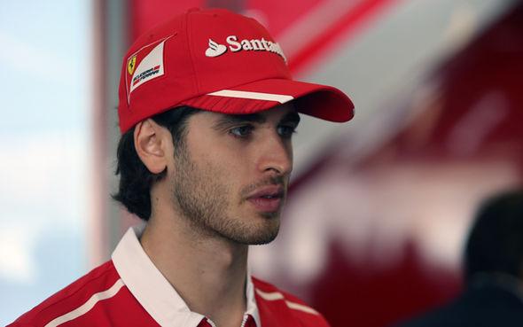 F1 driver Antonio Giovinazzi