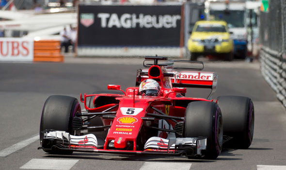 Ferrari driver Sebastian Vettel at the Monaco Grand Prix
