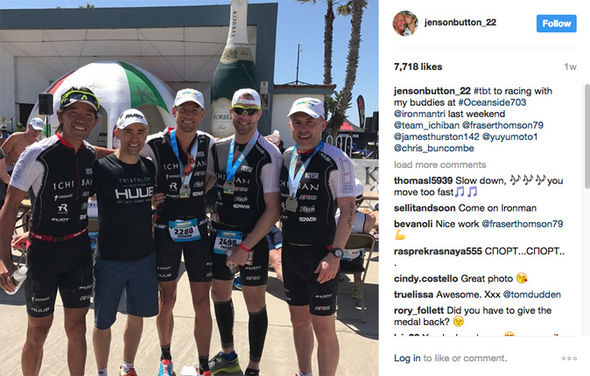 Jenson Button Instagram post about Ironman