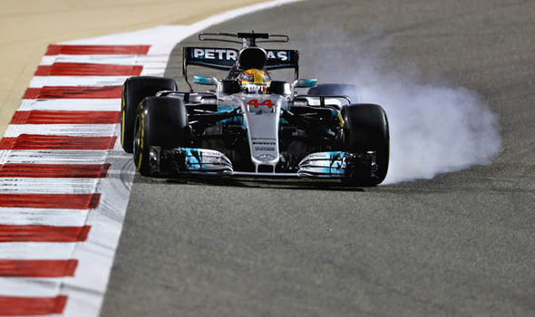 Lewis Hamilton at the Bahrain Grand Prix