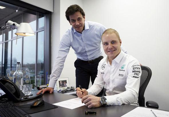 Mercedes 2017 F1 driver Valtteri Bottas