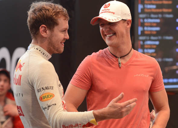 Schumacher and Vettel chat at the ROC