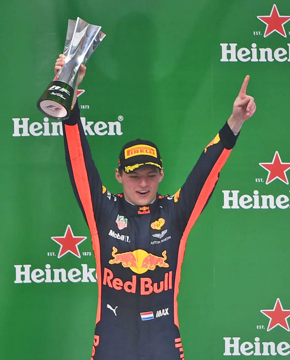 Verstappen finished third behind Lewis Hamilton and Sebastian Vettel