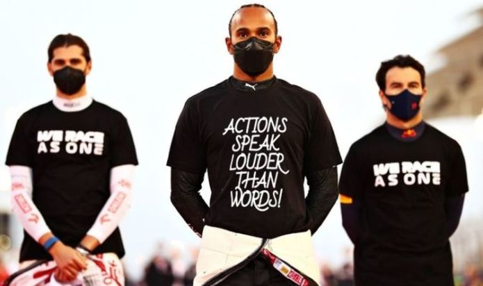 'No one has the right to tell us to shut up' - Lewis Hamilton blasts anti-activism critics