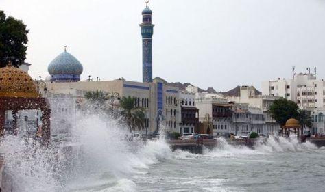 Tropical cyclone Shaheen rips through Oman & Iran leaving at least nine dead - '10m waves'