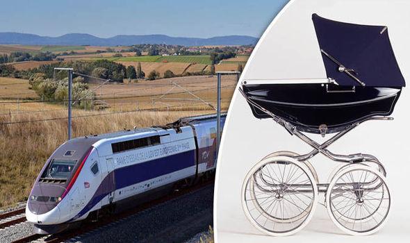 Baby on train