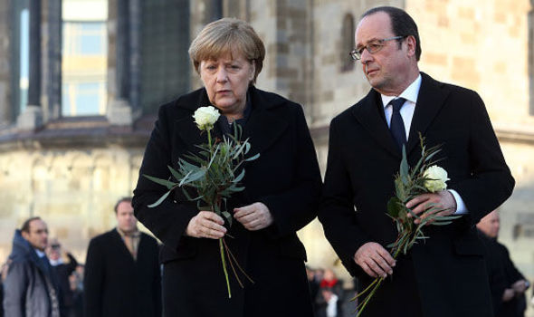 Mrs Merkel met French President Francois Hollande in Berlin last week a month after a terror attack