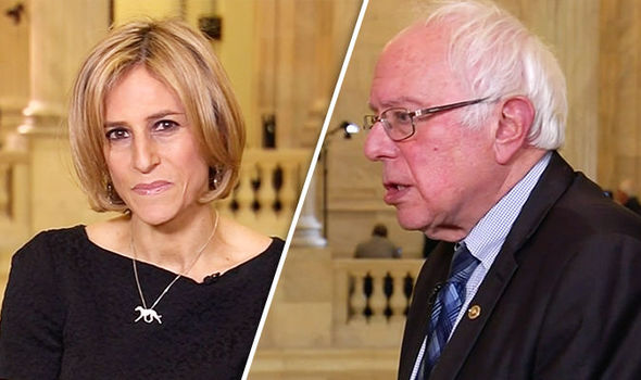 Bernie Sanders and Emily Maitlis