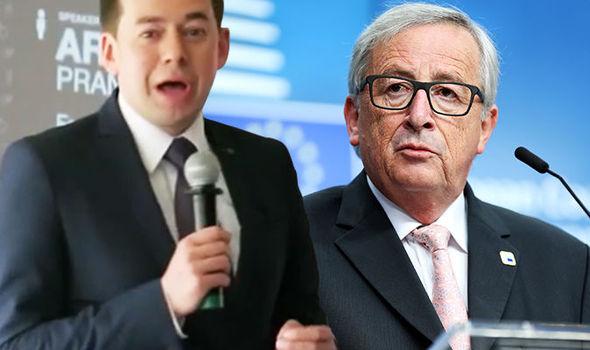 Arnoldas Pranckevičius and Jean-Claude Juncker