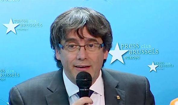Calres Puigdemont fled to Belgium after charges were called against him