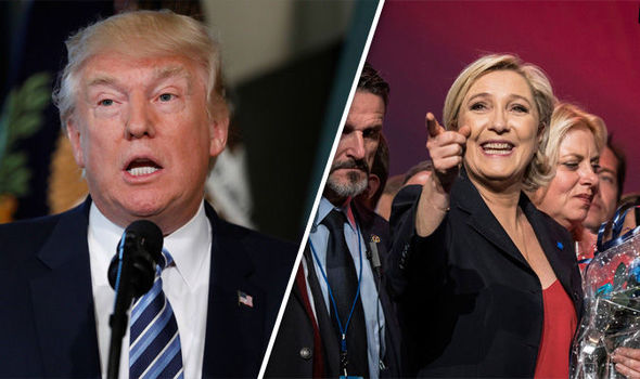 Donald Trump has backed Marine Le Pen in the French election