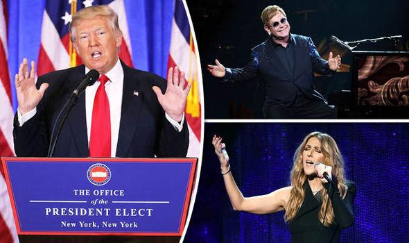 Donald Trump, Celine Dion, Elton John