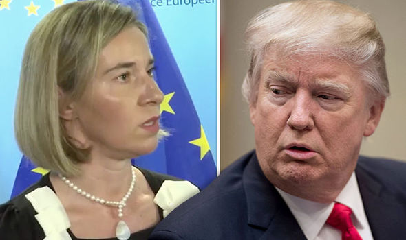 Donald Trump and Federica Mogherini