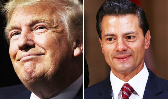 Donald Trump and Enrique Pena Nieto