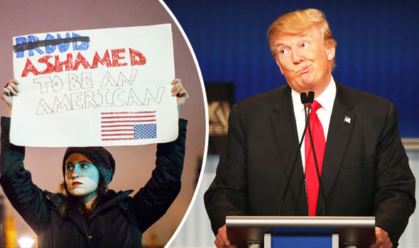 Donald Trump Muslim Ban America protest