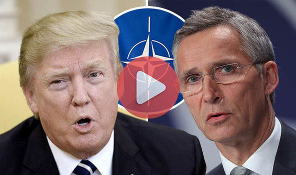 Donald Trump and General Jens Stoltenberg