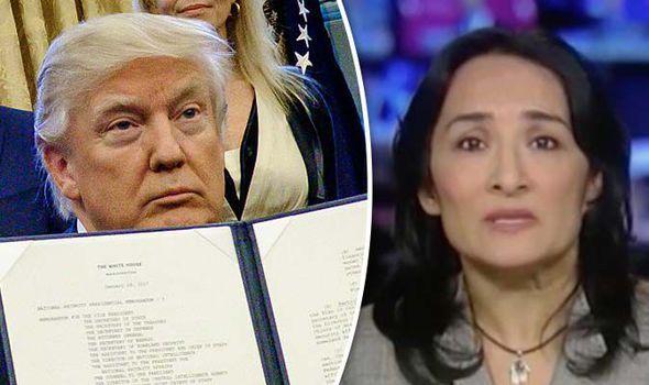 Donald Trump and Asra Nomani