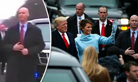 Donald Trump and his bodyguard