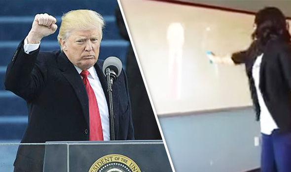 Donald Trump mock assassination