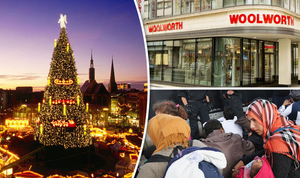 Dortmund's Christmas tree/ Woolworths/migrants