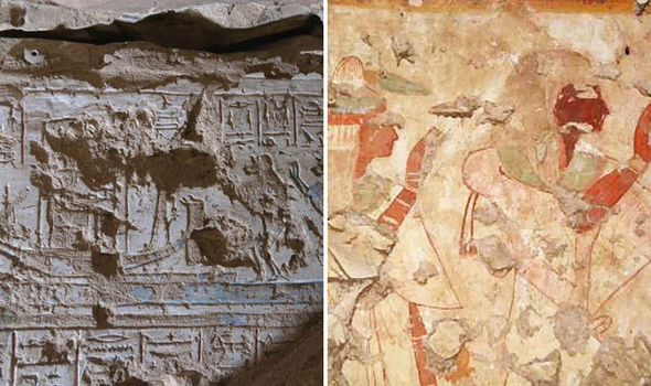 The newly discovered tomb was filled with carvings