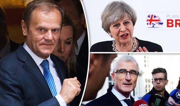 Geert Bourgeois, Donald Tusk and Theresa May