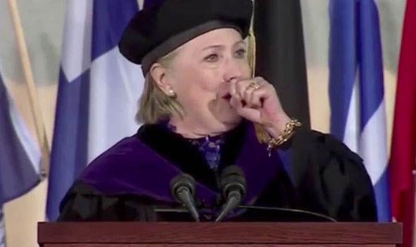 Hillary Clinton cough Wellesley college speech
