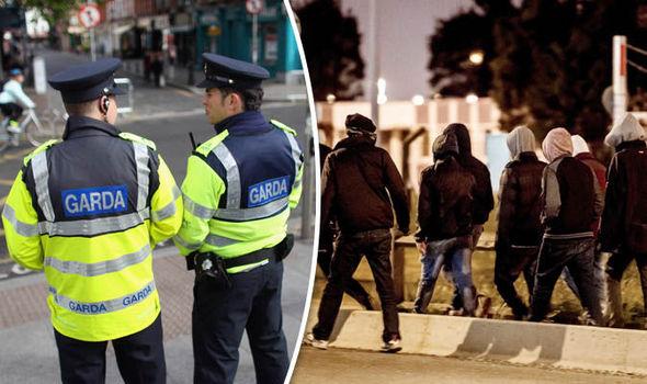 Irish police and migrants