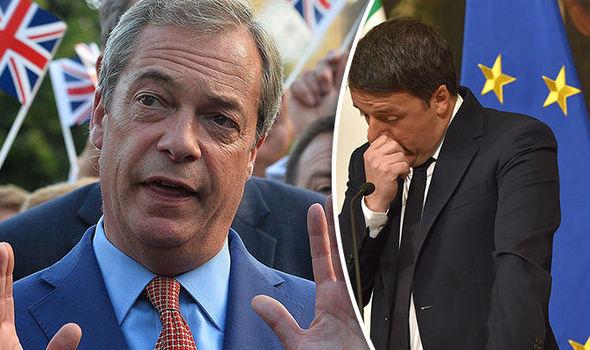 Nigel Farage and Matteo Renzi