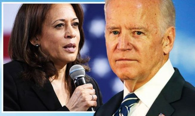 Joe Biden warned chances of Kamala Harris replacing him by end of year 'above 50%'   World   News   Express.co.uk
