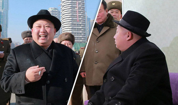 Kim Jong Un visiting a North Korean town